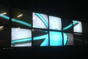 8 x 2 video wall by Studio Meno